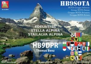 HB9SOTA Edelweiss Diplom